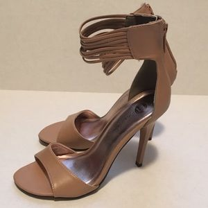 Michael Antonio Nude Heels with Strappy Ankle 7
